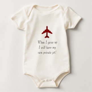private jet baby bodysuit