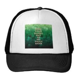 Private Property Piggy Bank Trucker Hats
