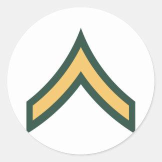Private rank round sticker