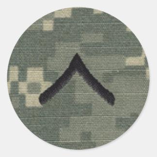Private Round Sticker