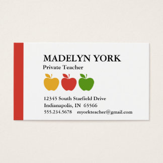Private Tutor Business Cards Business Card Printing Zazzle Co Uk