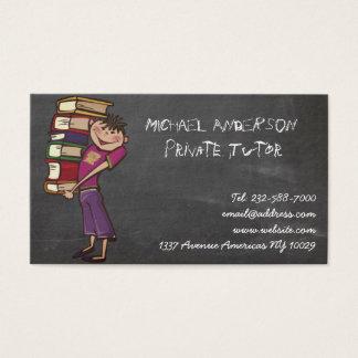 Private tutor blackboard business card