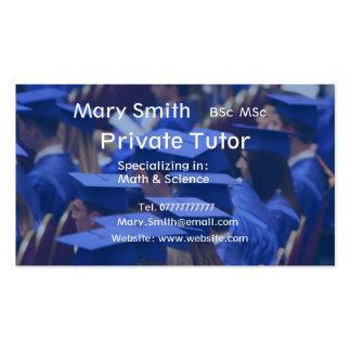 Private Tutor Teacher Personal Tutor business Business Card