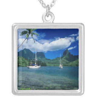 Private yachts anchored in Opunohu Bay on the Silver Plated Necklace
