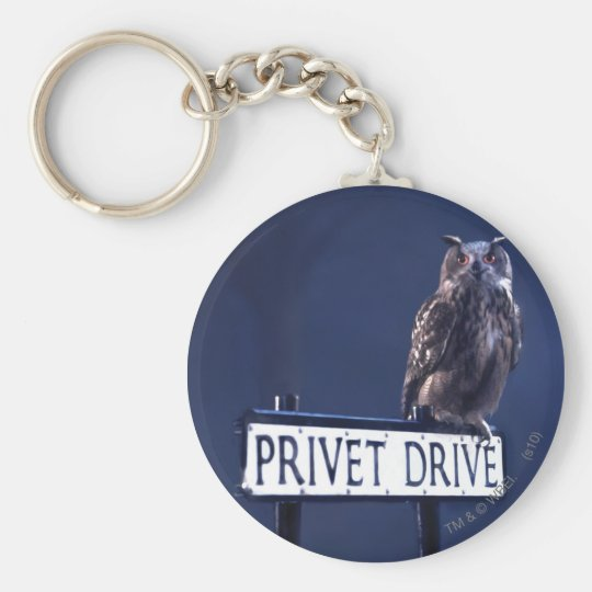 Privet Drive Basic Round Button Key Ring