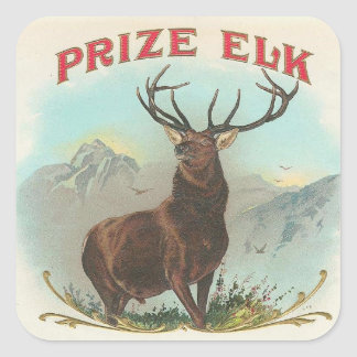 Prize Elk Square Sticker