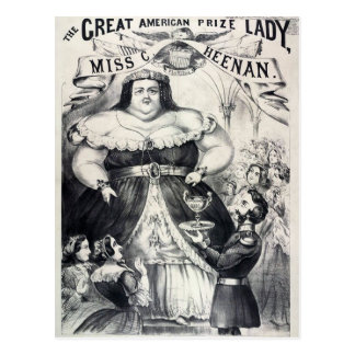 Prize Fat Lady Postcard
