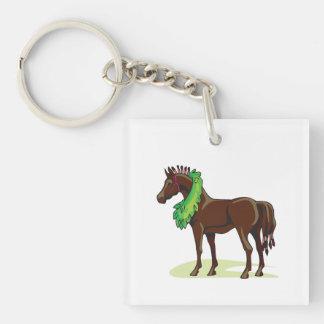 Prize Horse Single-Sided Square Acrylic Key Ring