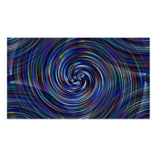 Prizm color streaks in black hole graphic swirl pack of standard business cards