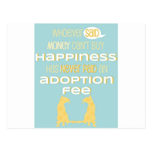 Pro-Adoption Shirt - Cat - Blue and Yellow Post Cards