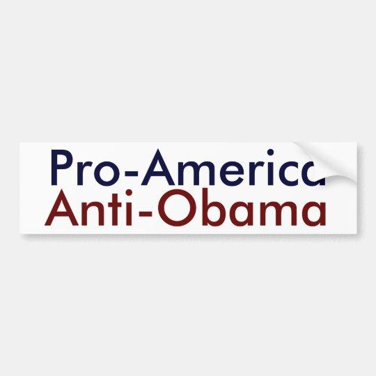 Pro-America, Anti-Obama Bumper Sticker