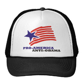 pro america anti obama mesh hat