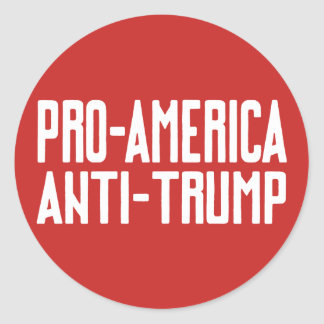 Pro-America Anti-Trump Resistance Classic Round Sticker