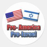 Pro-America/Israel Round Sticker