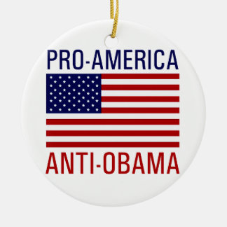 PRO-AMERICAN ANTI-OBAMA CHRISTMAS ORNAMENT