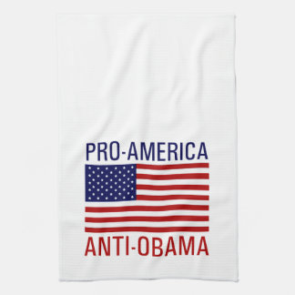 PRO-AMERICAN ANTI-OBAMA TEA TOWEL