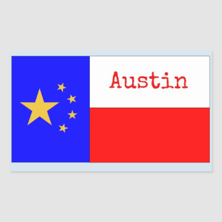 PRO-AUSTIN STICKER FLAG NEW and IMPROVED