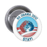 Pro-Bo Obama Dog 2012 Pinback Buttons