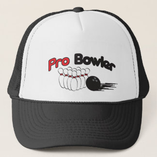 Pro Bowler Bowling Pin and Ball Trucker Hat