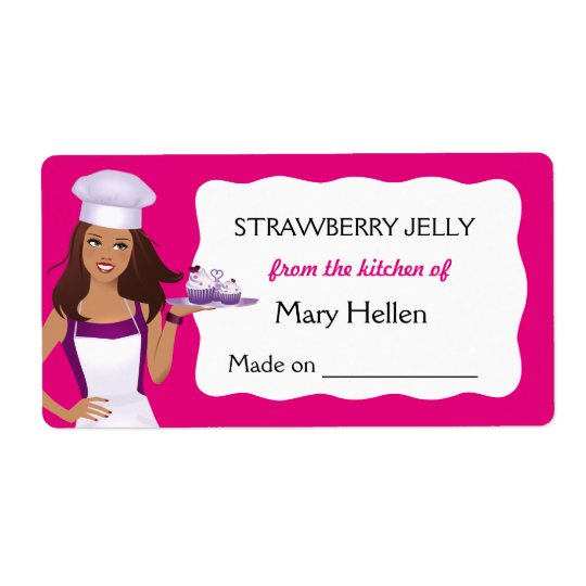Pro Chef Baking Goods Customisable Food Label Shipping Label