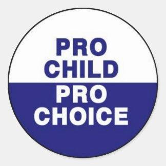 Pro child pro choice round sticker
