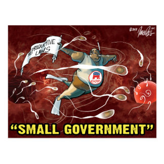 Pro Choice Design - Republicans' Small Government Postcards