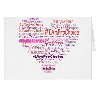Pro Choice Heart Greeting Card