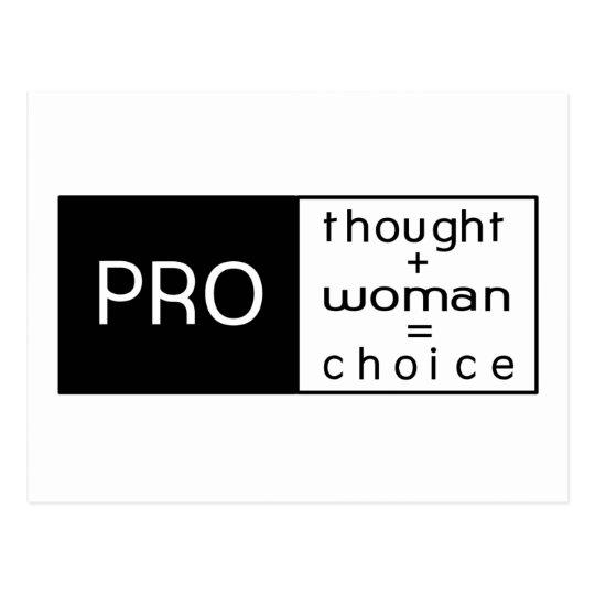 Pro Choice Postcard