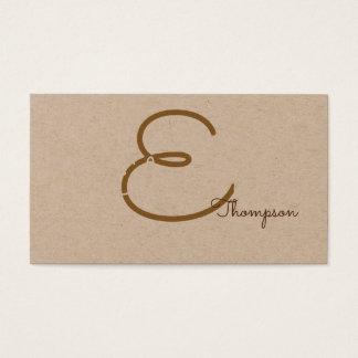 pro contact-card / original monogram on kraft business card