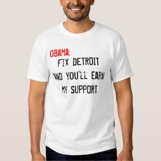 Pro Detroit Shirt, OBAMA Tshirt