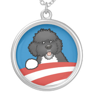 Pro First Dog Bo Obama Silver Plated Necklace