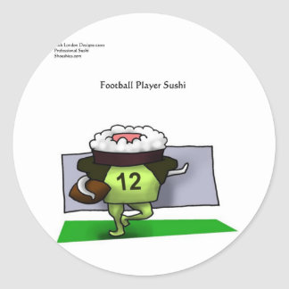 Pro Football Sushi Gifts Tees Mugs Cards Etc Round Stickers