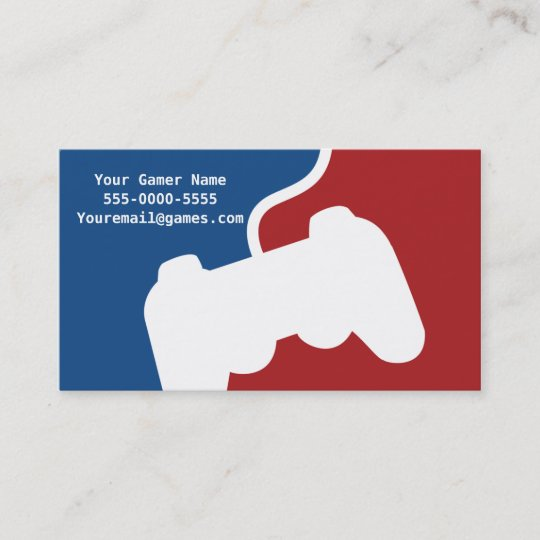Pro gamer video game business cards zazzle pro gamer video game business cards reheart Images