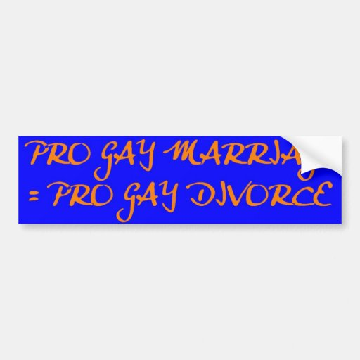Pro Gay Marriage Bumper Stickers 69