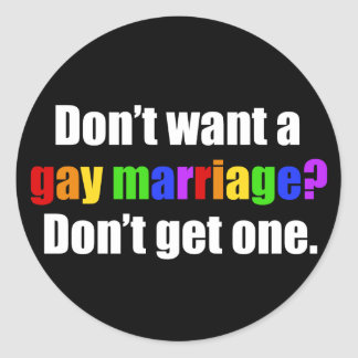 Pro Gay Marriage Classic Round Sticker