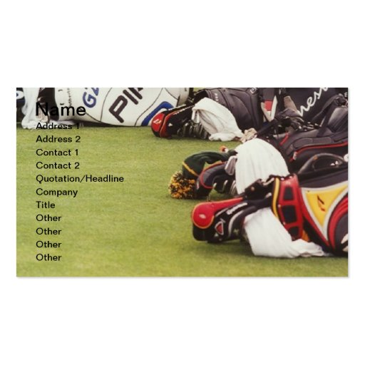 PRO GOLF BAGS BUSINESS CARDS
