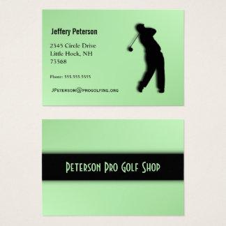 Pro Golf Green Business Card