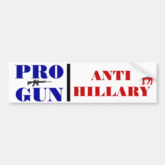 Pro Gun, Anti Obama, Anti Hillary, Anti Democrat Bumper Sticker