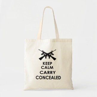 PRO GUN: KEEP CALM CARRY CONCEALED TOTE BAG