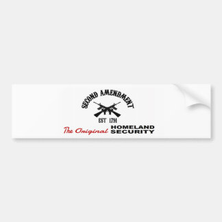 PRO GUN: ORIGINAL HOMELAND SECURITY 2nd AMENDMENT Bumper Sticker