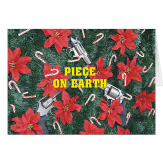 Pro Gun Piece On Earth Christmas Greeting Card
