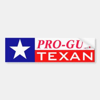Pro-Gun Texan Car Bumper Sticker