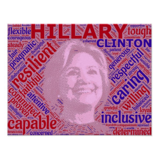 Pro Hillary Clinton Support Poster