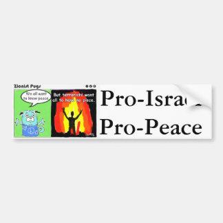 Pro-Israel, Pro-Peace Bumper Sticker
