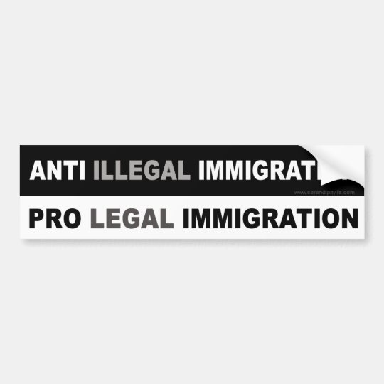 Pro LEGAL Immigration Bumper Sticker
