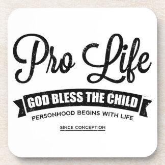 Pro Life Beverage Coasters