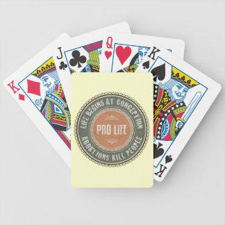 Pro Life Bicycle Poker Deck