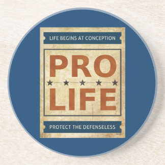 Pro Life Billboard Beverage Coaster
