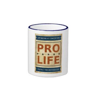 Pro Life Billboard Ringer Mug