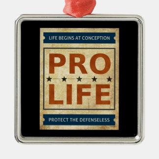 Pro Life Billboard Silver-Colored Square Decoration